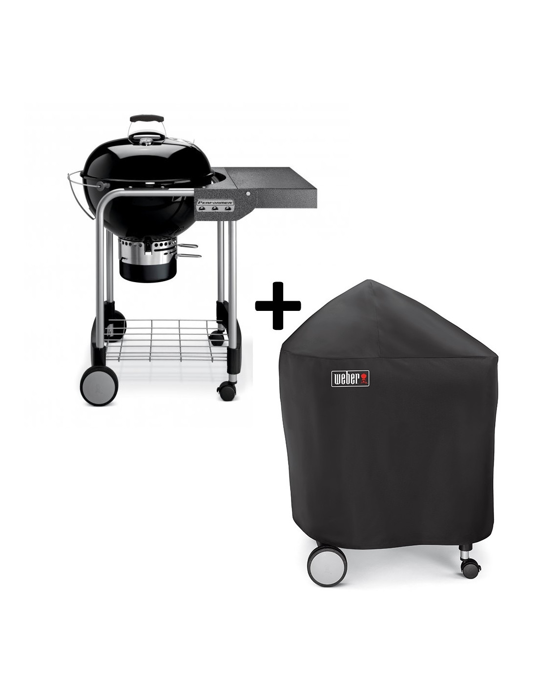 Barbecue weber charbon performer original 57cm gbs housse - Housse barbecue weber ...