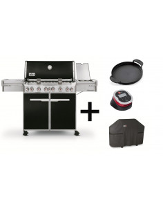 Pack Barbecue Summit E-670 GBS + Plancha + IGrill 2 + Housse
