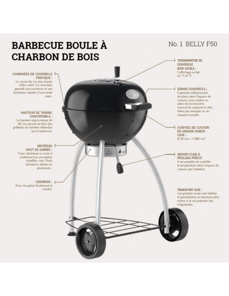 Barbecue charbon Rösle Belly