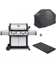 Pack Barbecue Gaz Sovereign 490 Broil King + Housse Premium + Plancha Fonte