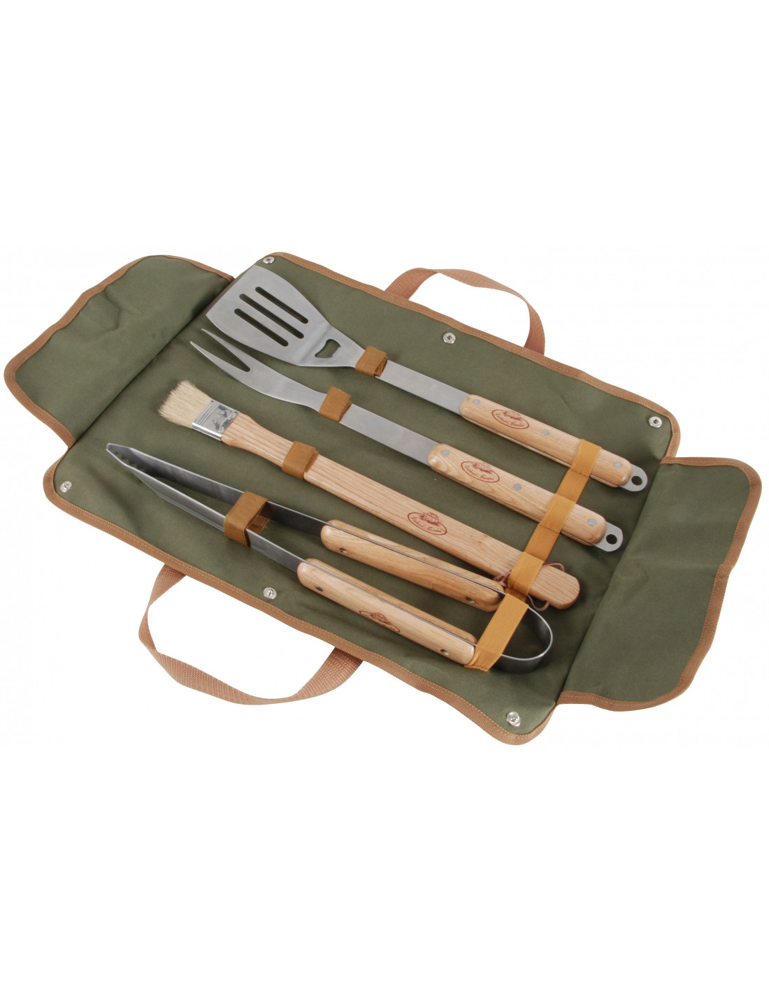 Set d'ustensiles Barbecue en bois