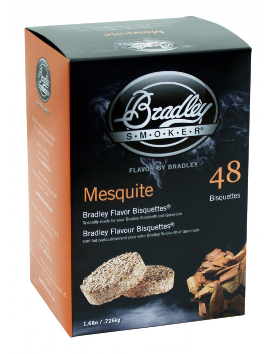 48 Bisquettes Mesquite - Fumoir Bradley Smoker