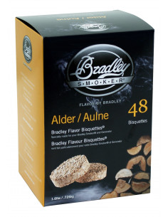 48 Bisquettes Aulne - Fumoir Bradley Smoker