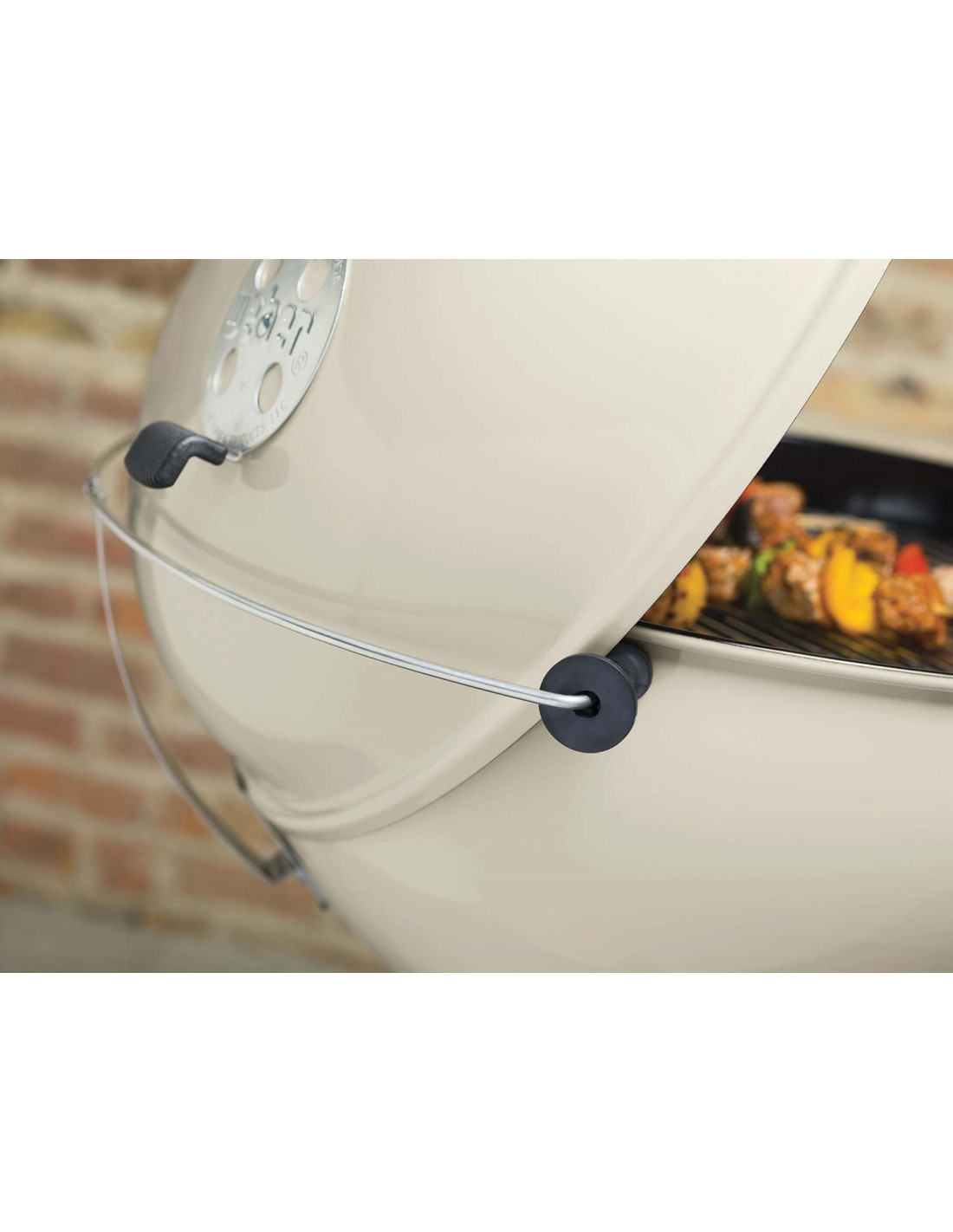 Barbecue Weber MasterTouch 57cm blanc GBS - Charbon