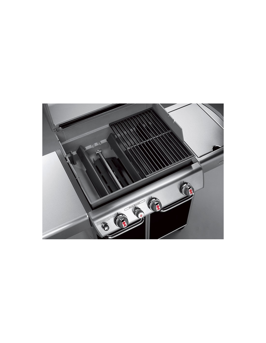 Barbecue gaz naturel weber genesis e330 noir - Barbecue weber a gaz ...