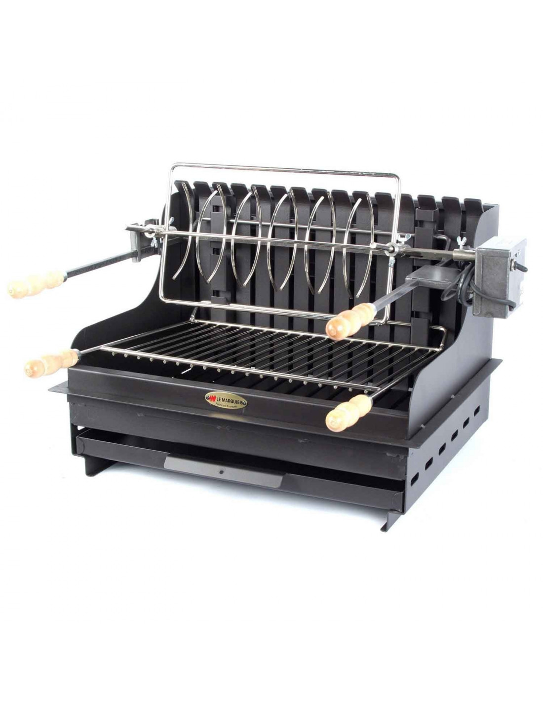 Barbecue charbon encastrable le marquier mendy for Fabrication barbecue exterieur