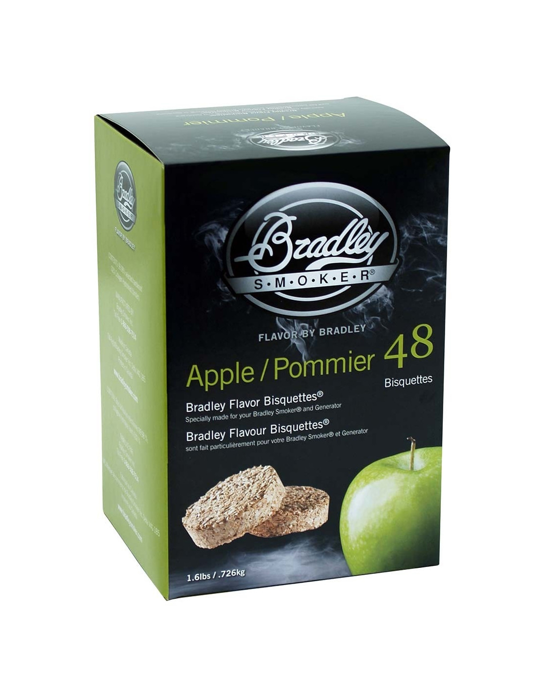 Boite 48 Bisquettes Pomme - Bradley Smoker