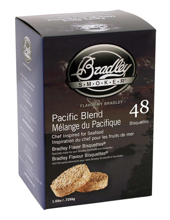 Boite 48 Bisquettes Pacific Blend - Bradley Smoker