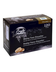 Boite 120 Bisquettes Hickory - Bradley Smoker