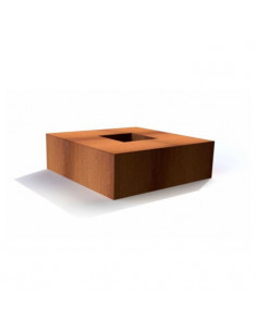Table Braséro en Corten Carré 120 cm