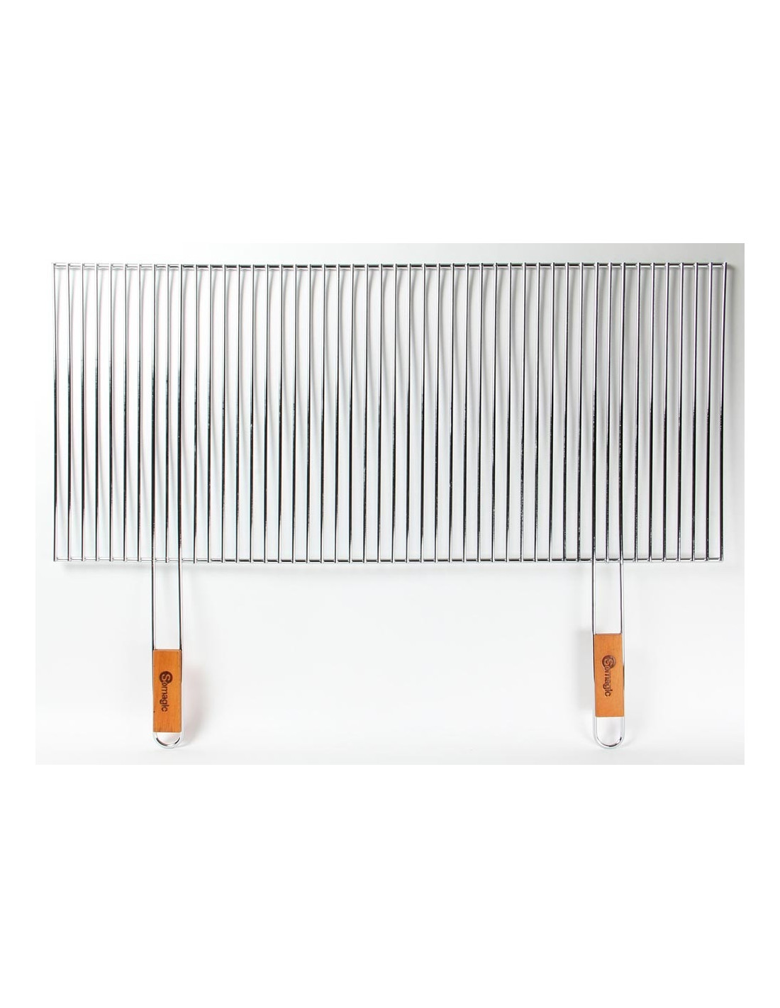 Grille barbecue decoupable 90x40cm somagic - Grille de barbecue en inox ...