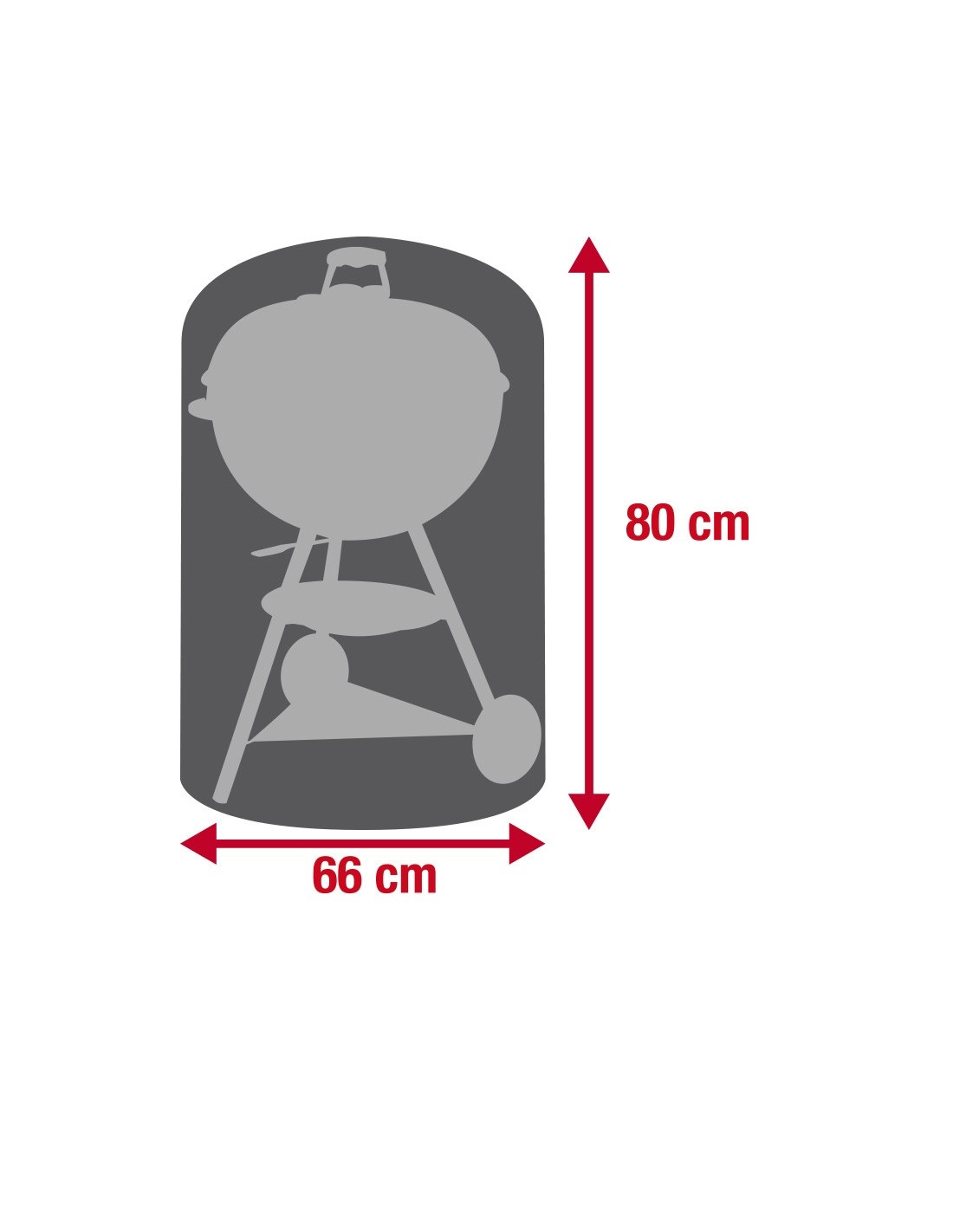 Housse Barbecue rond 66x80cm - Ø57cm