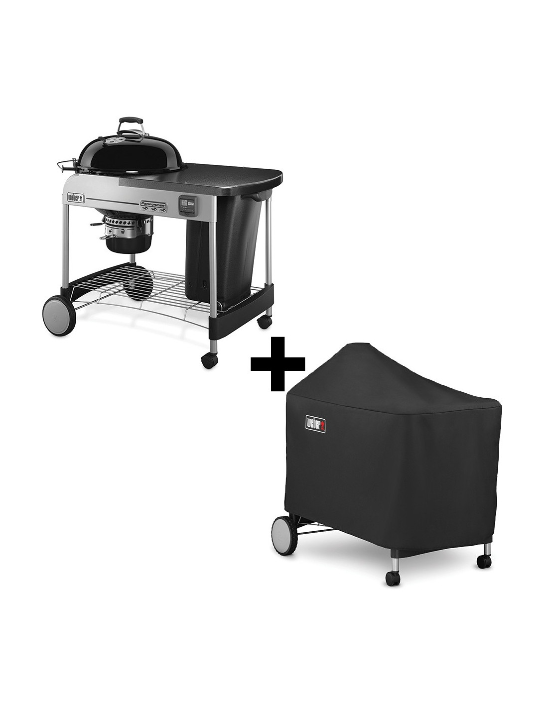Barbecue weber performer premium 57 cm barbecue weber for Housse barbecue weber spirit