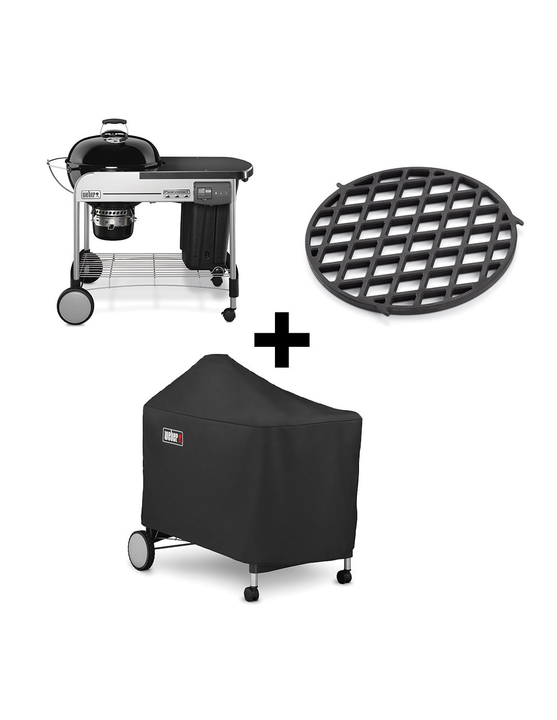 barbecue weber charbon performer deluxe 57cm gbs housse offerte. Black Bedroom Furniture Sets. Home Design Ideas