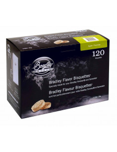 Boite 120 Bisquettes Pomme - Bradley Smoker