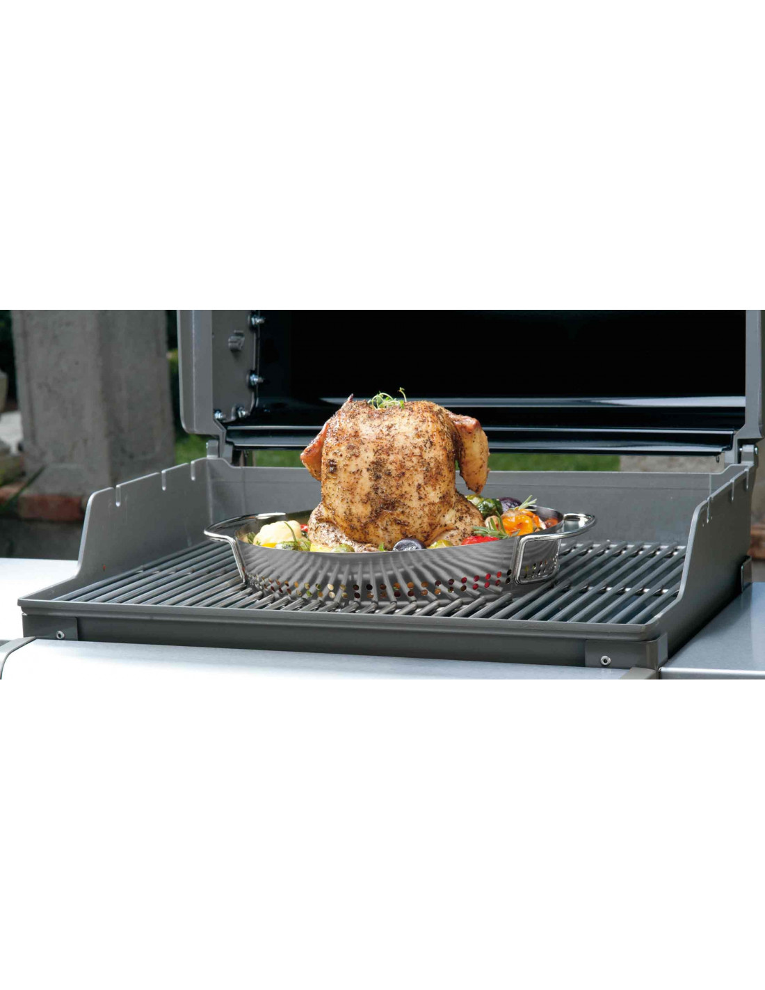 Accessoire barbecue support cuisson poulet weber gourmet - Poulet barbecue weber ...
