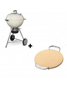 Pack Barbecue Mastertouch blanc + Pierre à pizza Gourmet