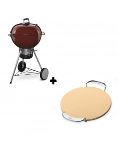 Pack Barbecue Mastertouch Rouge + Pierre à pizza Gourmet