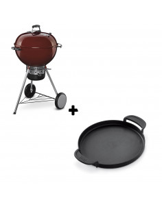 Pack Barbecue Mastertouch Rouge + Plancha Gourmet