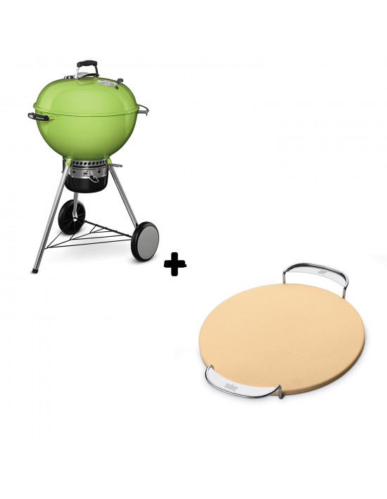 Pack Barbecue Mastertouch vert + Pierre à pizza Gourmet