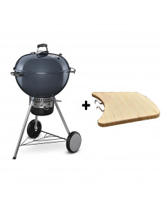 Pack Barbecue Mastertouch bleu + Tablette bois