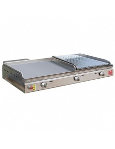 Plancha 55 lisse + Barbecue Grill 26