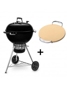 Pack Barbecue Noir Mastertouch 5750 + Pierre à Pizza