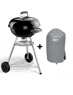 Pack Barbecue Compact Kettle 47cm + Housse Standard Weber