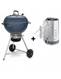 Pack Barbecue Mastertouch 5750 Bleu + Cheminée d'allumage