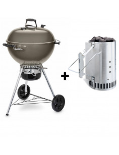 Pack Barbecue Mastertouch 5750 gris + Cheminée d\'allumage