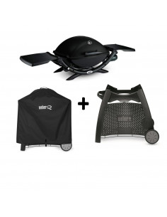Pack Barbecue Q2200 + Chariot luxe + housse Weber
