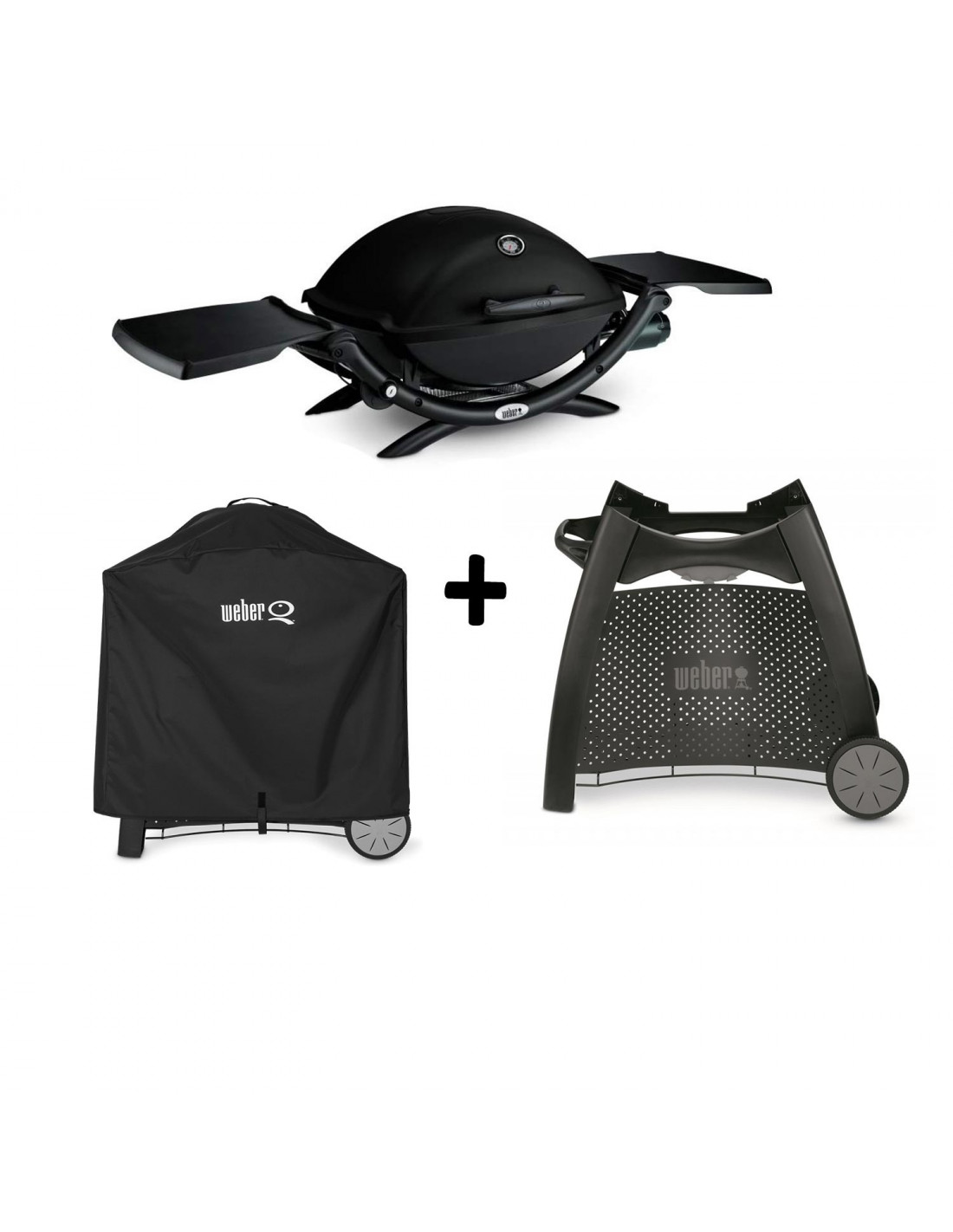 pack barbecue q2200 chariot luxe housse weber