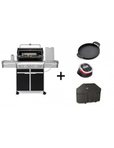 Pack Barbecue Summit E-470 + Plancha + IGrill 2 + Housse