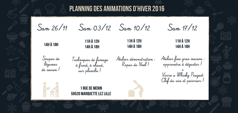 dates des animations de Esprit Barbecue