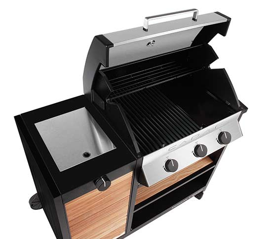 Barbecue woody ouvert de la marque Cadac