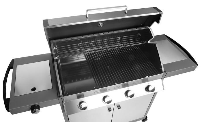 Grille de cuisson + plancha + rechaud cadac meridian 4 brûleurs
