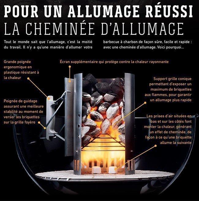 Accessoire Weber Cheminee Allumage Pour Barbecue
