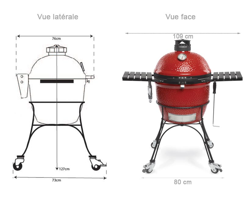 Dimensions du barbecue Classic Joe II