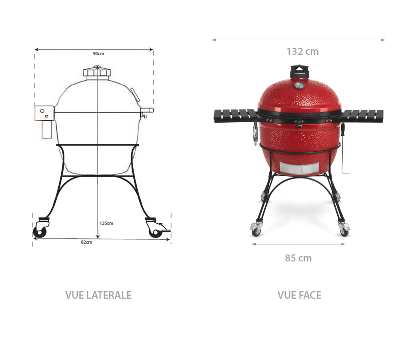 Dimensions du barbecue Big Joe II