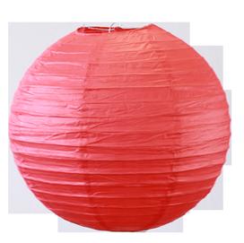 Lampion boule rouge
