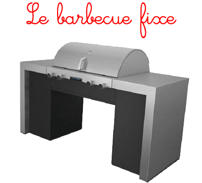 le barbecue gaz fixe. Black Bedroom Furniture Sets. Home Design Ideas