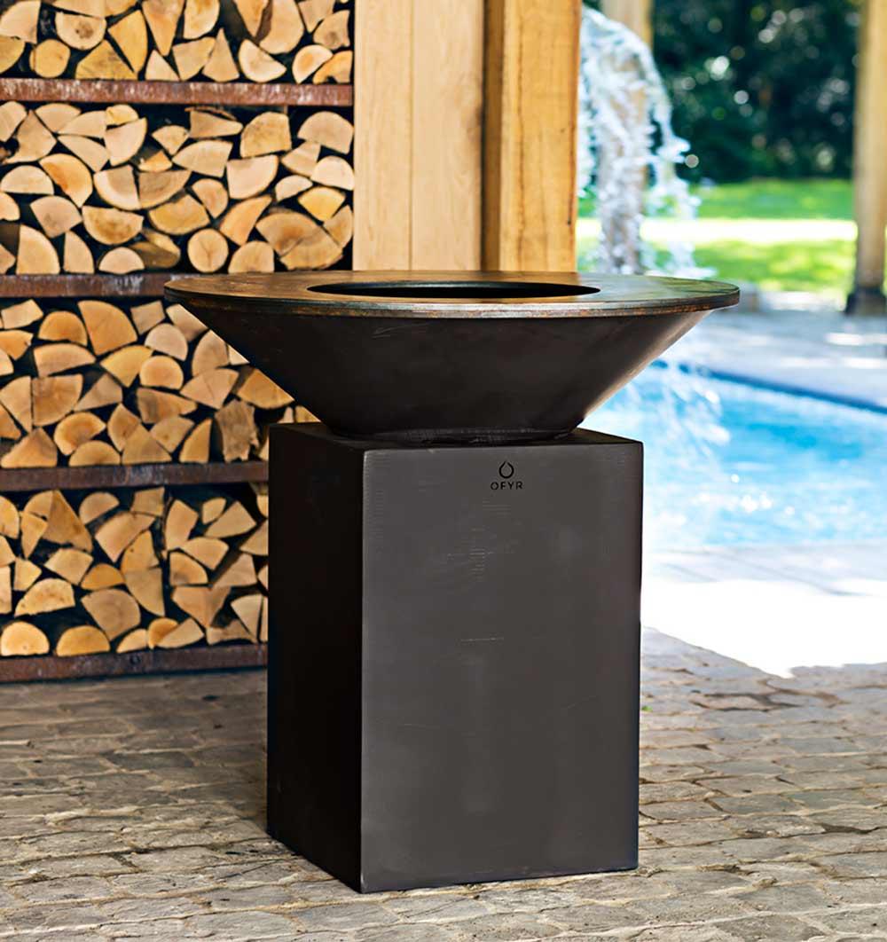 brasero ofyr classic noir 100. Black Bedroom Furniture Sets. Home Design Ideas